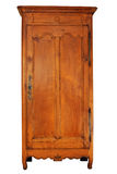 French wardrobe from the 18th century. An old French wardrobe in cherrywood. Louis 16th style Stock Photos