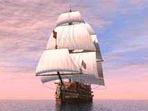 French Warship Royalty Free Stock Photography