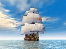 French Warship Royalty Free Stock Image