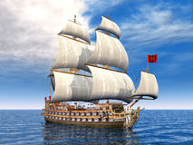 French Warship Stock Photography