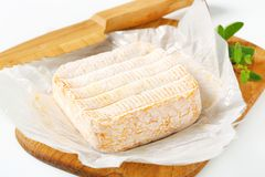 French washed rind cheese Royalty Free Stock Photos