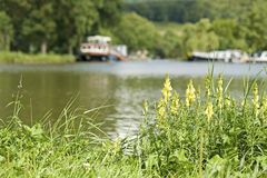 French waterway. Canal Bourgogne. Stock Images
