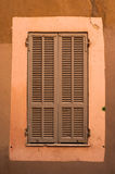 French widow shutters. Close up of old French widow shutters Royalty Free Stock Image