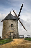 French windmill. Windmill detail on a stormy day, high density range image Stock Image