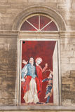 French window - Avignon's Theatre Stock Photography