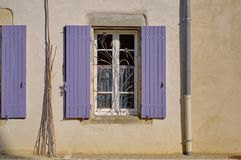 French window with blinds royalty free stock photo