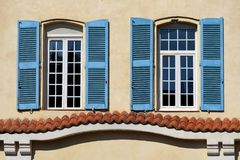 French window in Provence Royalty Free Stock Photos