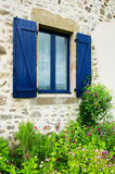 French window with shutters Stock Photography