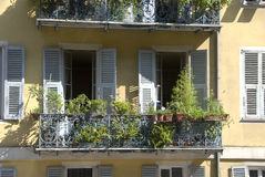 French windows and balconies Stock Images
