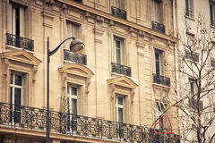 French windows. Beautiful house with famous french windows Stock Photo