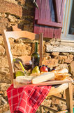 French wine and cheese royalty free stock images