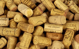 French wine corks. Horizontal picture Royalty Free Stock Photo