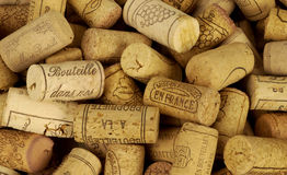 French wine corks. Horizontal picture Royalty Free Stock Images