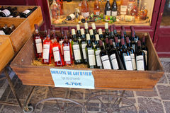French wine shop Royalty Free Stock Photo