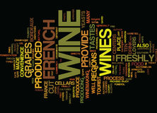 French Wine Text Background Word Cloud Concept Stock Photo