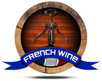 French Wine - Wooden Icon Royalty Free Stock Photography