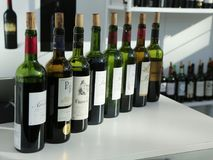 French wines on display at Vinexpo New York in Javits Convention Center Royalty Free Stock Photography