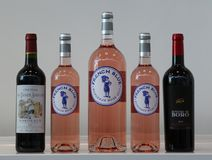 French wines on display at Vinexpo New York in Javits Convention Center Stock Photo