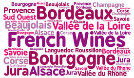 French wines word cloud. Illustration vector illustration