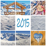 2015, French winter mountain holiday Stock Image