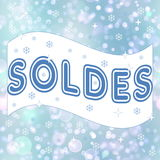 French winter sale, soldes Stock Photo