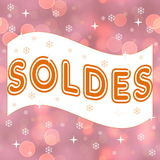 French winter sale, soldes Stock Image