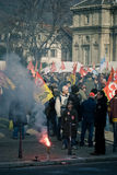 French Workers Protest Stock Photography