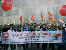 French Workers Strike Royalty Free Stock Photo