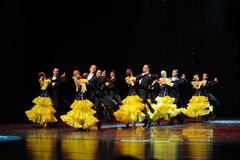 The French yellow roses-The French Cancan-the Austria's world Dance Stock Photos