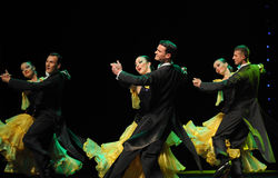 The French yellow roses-The French Cancan-the Austria's world Dance Royalty Free Stock Photos