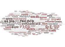 French Youths Protest Pink Slip Rule Word Cloud Concept Stock Images