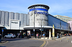 Frenchgate shopping centre. Main entrance to Frenchgate shopping centre in Doncaster UK, photo taken on 14/03/2016, editorial photo royalty free stock images