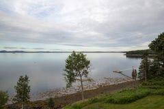 Frenchman Bay at dusk at Bar Harbor Maine USA. Frenchman Bay at dusk near Bar Harbor Maine USA Royalty Free Stock Image