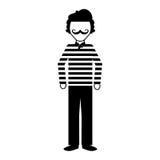 Frenchman character cartoon vector illustration