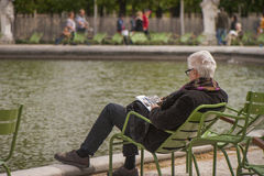 A Frenchman in Tuileries Gardens Stock Photography