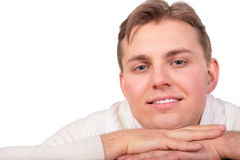 Frendly young man face close-up Royalty Free Stock Image