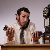 Frenesí del teléfono Imagen de archivo libre de regalías