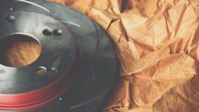 Freno de disco es una parte de uso del coche para la parada el coche Imagen de archivo libre de regalías