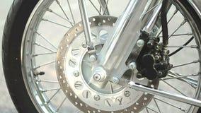 Freno de disco lateral de rueda de la cacerola de la motocicleta almacen de video