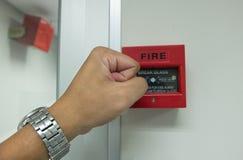 Freno de mano la alarma de incendio para en la pared Foto de archivo