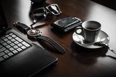 Freno del caffee de la oficina Concepto elegante del lugar de trabajo Fotografía de archivo libre de regalías