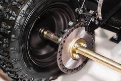 Freno di disco di una bici a quattro ruote Fotografie Stock