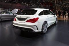 Freno 2015 di fucilazione di Mercedes-Benz CLA45 AMG Immagine Stock Libera da Diritti