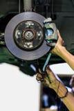 Freno a disco di un'automobile Fotografie Stock
