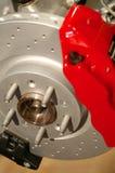 Freno e rotore Fotografia Stock