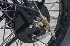 Freno en motocicleta vieja Imagen de archivo