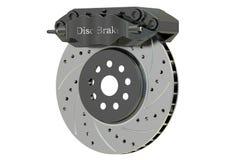 Freno y calibrador de disco del coche representación 3d Imagen de archivo