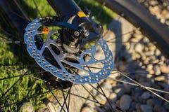 Frenos de disco de la bici Imagenes de archivo