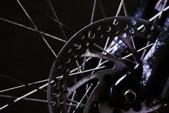 Frenos de disco de la bici de montaña Imágenes de archivo libres de regalías