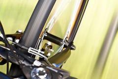 Frenos del calibrador y bifurcación de la suspensión Foto de archivo